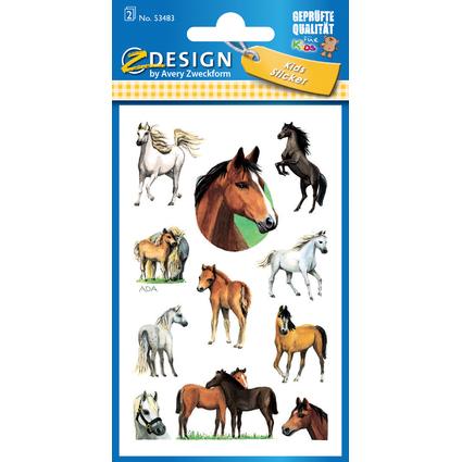"""AVERY Zweckform ZDesign Sticker KIDS """"Pferde"""", beglimmert"""